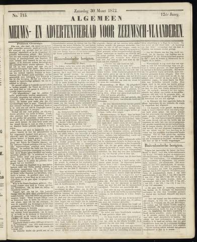 Ter Neuzensche Courant. Algemeen Nieuws- en Advertentieblad voor Zeeuwsch-Vlaanderen / Neuzensche Courant ... (idem) / (Algemeen) nieuws en advertentieblad voor Zeeuwsch-Vlaanderen 1872-03-30