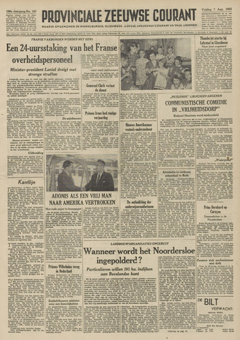 Provinciale Zeeuwse Courant 1953-08-07