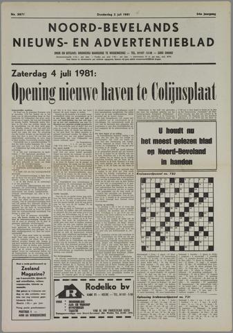 Noord-Bevelands Nieuws- en advertentieblad 1981-07-02
