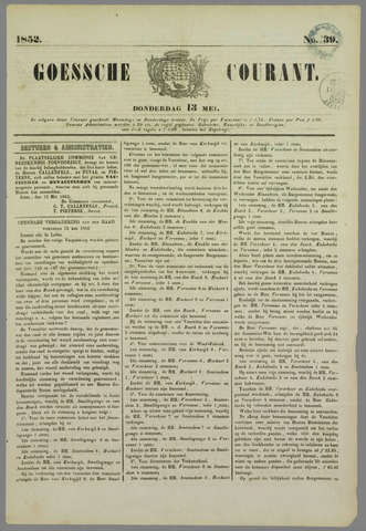 Goessche Courant 1852-05-13