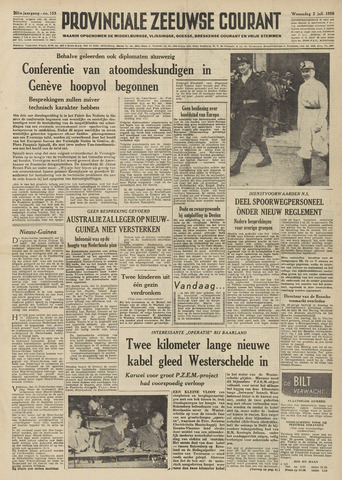 Provinciale Zeeuwse Courant 1958-07-02