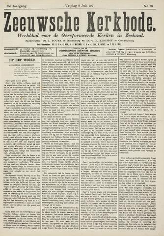 Zeeuwsche kerkbode, weekblad gewijd aan de belangen der gereformeerde kerken/ Zeeuwsch kerkblad 1921-07-08