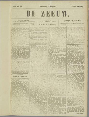 De Zeeuw. Christelijk-historisch nieuwsblad voor Zeeland 1891-02-26