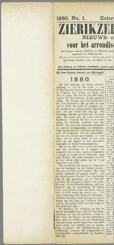 Zierikzeesche Courant 1880