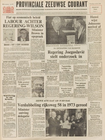 Provinciale Zeeuwse Courant 1967-10-04