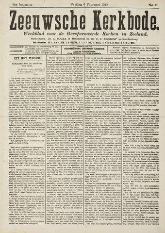 Zeeuwsche kerkbode, weekblad gewijd aan de belangen der gereformeerde kerken/ Zeeuwsch kerkblad 1920-02-06