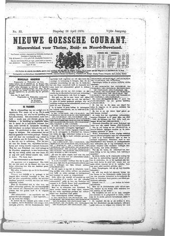 Nieuwe Goessche Courant 1870-04-26