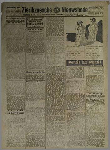Zierikzeesche Nieuwsbode 1933