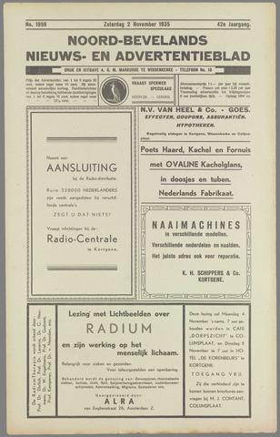 Noord-Bevelands Nieuws- en advertentieblad 1935-11-02