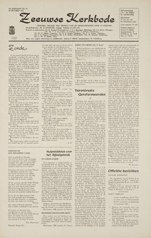 Zeeuwsche kerkbode, weekblad gewijd aan de belangen der gereformeerde kerken/ Zeeuwsch kerkblad 1968-10-24