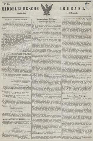 Middelburgsche Courant 1850-02-14
