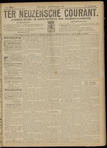 Ter Neuzensche Courant. Algemeen Nieuws- en Advertentieblad voor Zeeuwsch-Vlaanderen / Neuzensche Courant ... (idem) / (Algemeen) nieuws en advertentieblad voor Zeeuwsch-Vlaanderen 1917-02-22