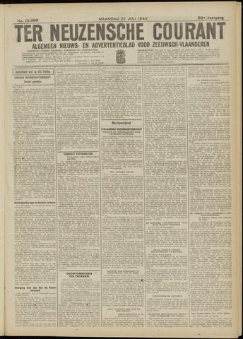 Ter Neuzensche Courant. Algemeen Nieuws- en Advertentieblad voor Zeeuwsch-Vlaanderen / Neuzensche Courant ... (idem) / (Algemeen) nieuws en advertentieblad voor Zeeuwsch-Vlaanderen 1942-07-27