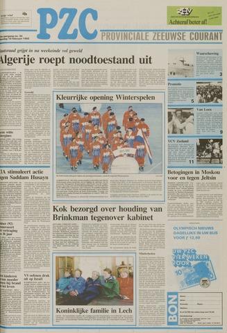 Provinciale Zeeuwse Courant 1992-02-10