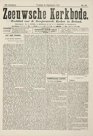 Zeeuwsche kerkbode, weekblad gewijd aan de belangen der gereformeerde kerken/ Zeeuwsch kerkblad 1915-09-24