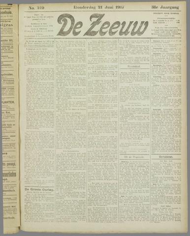 De Zeeuw. Christelijk-historisch nieuwsblad voor Zeeland 1917-06-21