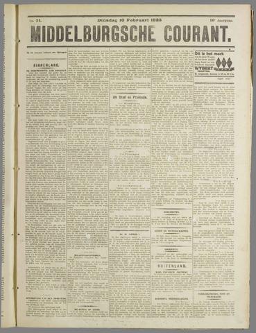 Middelburgsche Courant 1925-02-10