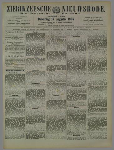 Zierikzeesche Nieuwsbode 1905-08-17
