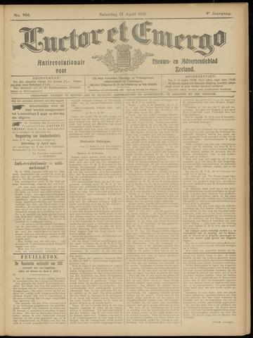 Luctor et Emergo. Antirevolutionair nieuws- en advertentieblad voor Zeeland / Zeeuwsch-Vlaanderen. Orgaan ter verspreiding van de christelijke beginselen in Zeeuwsch-Vlaanderen 1912-04-13