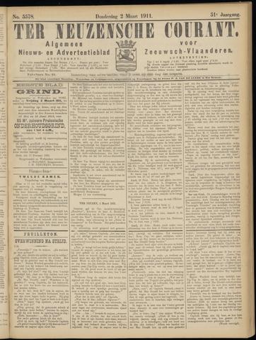 Ter Neuzensche Courant. Algemeen Nieuws- en Advertentieblad voor Zeeuwsch-Vlaanderen / Neuzensche Courant ... (idem) / (Algemeen) nieuws en advertentieblad voor Zeeuwsch-Vlaanderen 1911-03-02