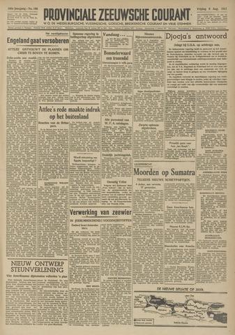 Provinciale Zeeuwse Courant 1947-08-08