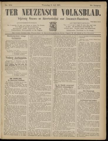 Ter Neuzensch Volksblad. Vrijzinnig nieuws- en advertentieblad voor Zeeuwsch- Vlaanderen / Zeeuwsch Nieuwsblad. Nieuws- en advertentieblad voor Zeeland 1917-07-11