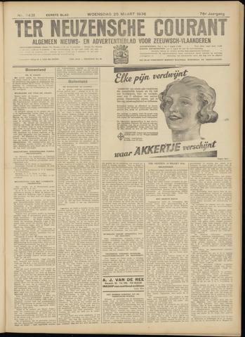Ter Neuzensche Courant. Algemeen Nieuws- en Advertentieblad voor Zeeuwsch-Vlaanderen / Neuzensche Courant ... (idem) / (Algemeen) nieuws en advertentieblad voor Zeeuwsch-Vlaanderen 1936-03-25