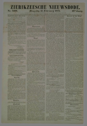 Zierikzeesche Nieuwsbode 1873-02-25