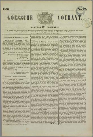 Goessche Courant 1853-02-28