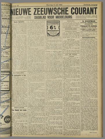 Nieuwe Zeeuwsche Courant 1920-07-12