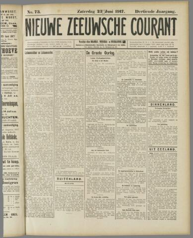 Nieuwe Zeeuwsche Courant 1917-06-23