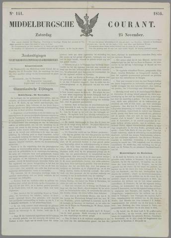 Middelburgsche Courant 1854-11-25