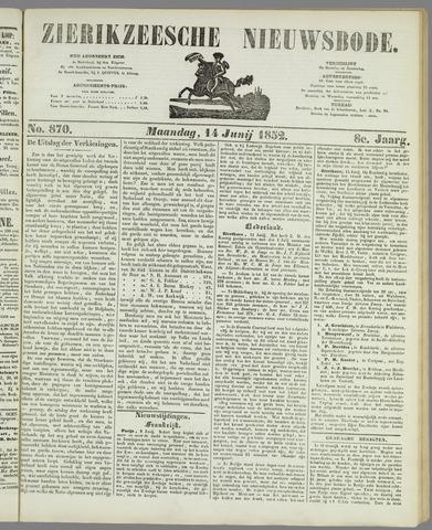 Zierikzeesche Nieuwsbode 1852-06-14
