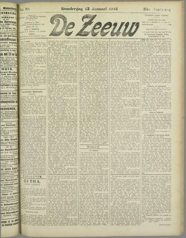 De Zeeuw. Christelijk-historisch nieuwsblad voor Zeeland 1921-01-13