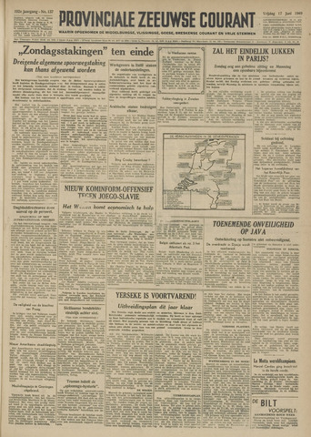 Provinciale Zeeuwse Courant 1949-06-17