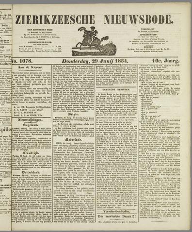 Zierikzeesche Nieuwsbode 1854-06-29