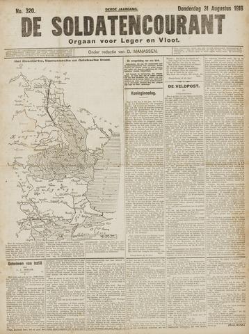 De Soldatencourant. Orgaan voor Leger en Vloot 1916-09-01