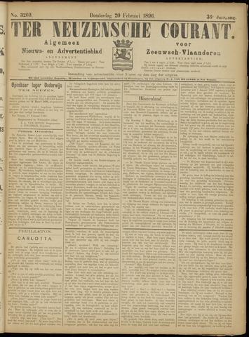 Ter Neuzensche Courant. Algemeen Nieuws- en Advertentieblad voor Zeeuwsch-Vlaanderen / Neuzensche Courant ... (idem) / (Algemeen) nieuws en advertentieblad voor Zeeuwsch-Vlaanderen 1896-02-20