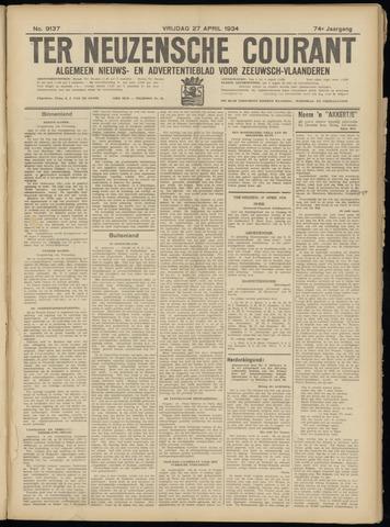 Ter Neuzensche Courant. Algemeen Nieuws- en Advertentieblad voor Zeeuwsch-Vlaanderen / Neuzensche Courant ... (idem) / (Algemeen) nieuws en advertentieblad voor Zeeuwsch-Vlaanderen 1934-04-27