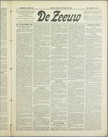 De Zeeuw. Christelijk-historisch nieuwsblad voor Zeeland 1934-04-12