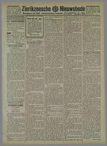 Zierikzeesche Nieuwsbode 1933-07-05