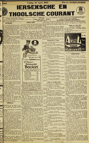 Ierseksche en Thoolsche Courant 1925-04-10
