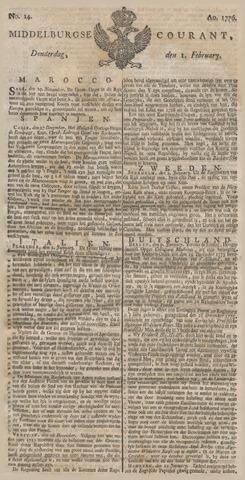 Middelburgsche Courant 1776-02-01