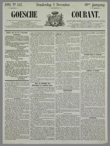 Goessche Courant 1881-12-01