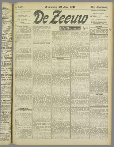De Zeeuw. Christelijk-historisch nieuwsblad voor Zeeland 1921-06-29