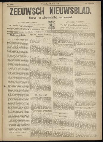 Ter Neuzensch Volksblad. Vrijzinnig nieuws- en advertentieblad voor Zeeuwsch- Vlaanderen / Zeeuwsch Nieuwsblad. Nieuws- en advertentieblad voor Zeeland 1918-07-17