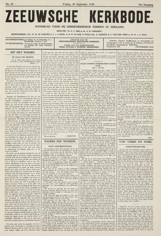 Zeeuwsche kerkbode, weekblad gewijd aan de belangen der gereformeerde kerken/ Zeeuwsch kerkblad 1938-09-30