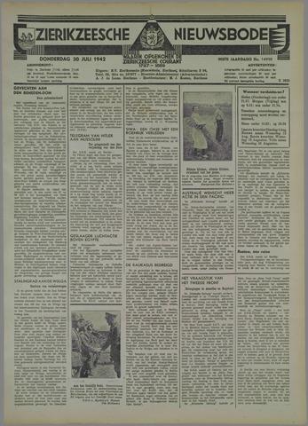 Zierikzeesche Nieuwsbode 1942-07-30