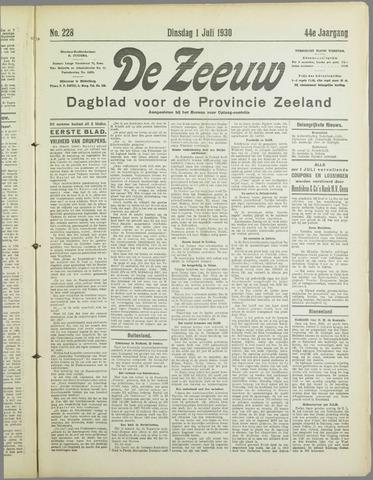 De Zeeuw. Christelijk-historisch nieuwsblad voor Zeeland 1930-07-01