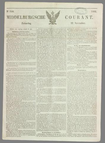 Middelburgsche Courant 1862-11-22